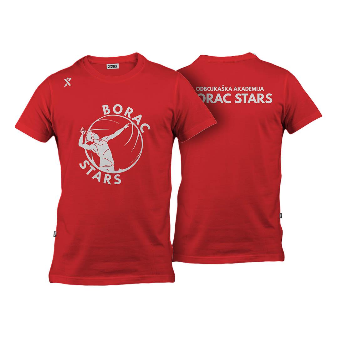 T Majica kratki rukav Crvena Odbojka Borac Stars