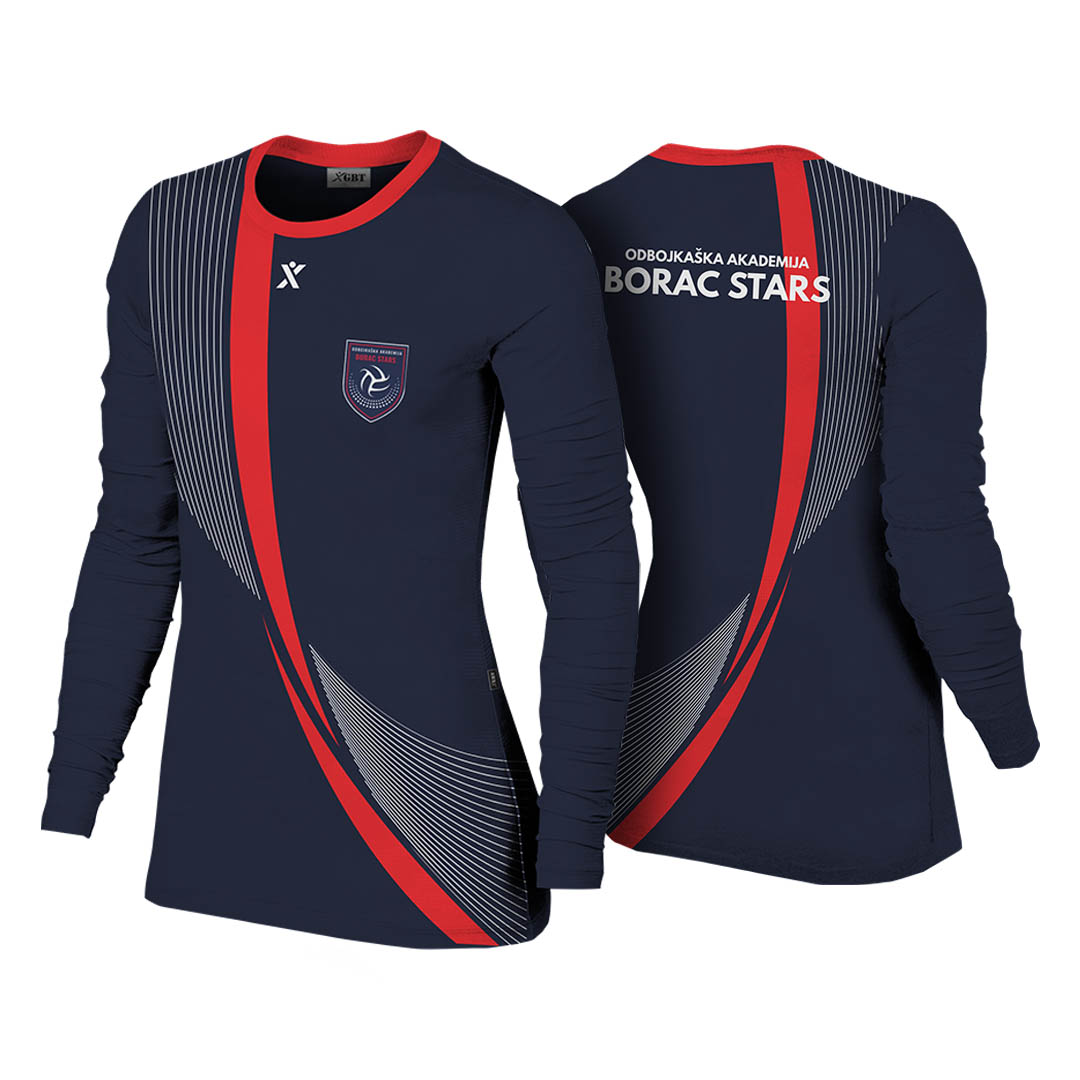 Aktivna majica Borac Stars Dugi Rukav Odbojka Volleyball