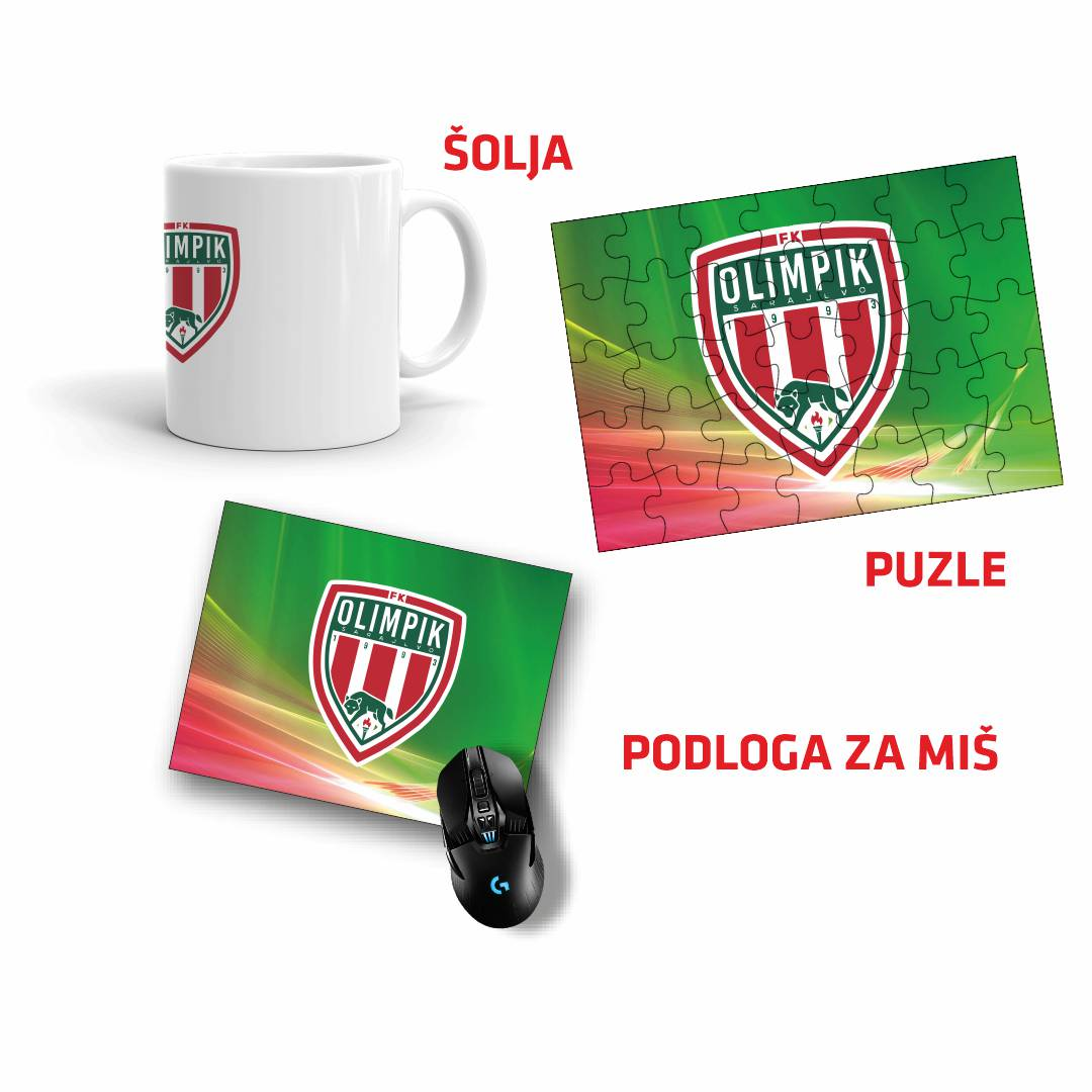 FK Olimpik Sarajevo Šolja Solja, Puzzle i Podloga Za Miš Mis